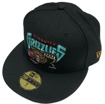 Men New Era Black Vancouver Grizzlies Hardwood Classic Night 59FIFTY Fitted Hat