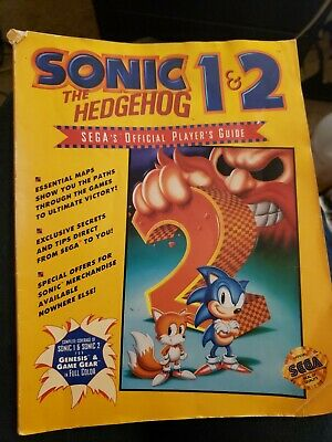 Sonic The Hedgehog 1&2 Sega's Official Player's Guide Maps, Secrets And Tips.