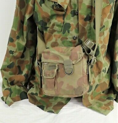 Australian Army Belt Shoulder Harness 2ltr large water bottle 1994 & carry pouch