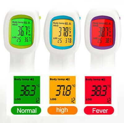 LCD Digital Thermometer Infrared Forehead Non-touch Baby Adult Temperature Gun
