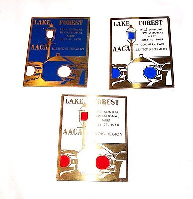 3 Lake Forest Ford Model A T Classic Car Show Plaques Chicago Auto Tickets Ofr