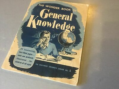 1951 Weet Bix The Wonder Book Of General Knowledge Album With Cards Stuck In +