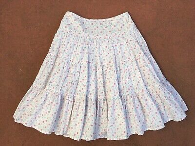Country Road, Girls Size 5, Floral Floral Tiered Cotton Skirt, New Without Tags.