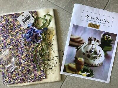 Helen Dafter Ribbon Embroidery Kit wool Tea Cosy AS IS