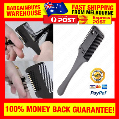 Professional Hairdressers Razor Comb Hair Razor Cutting Thinning Trimmer