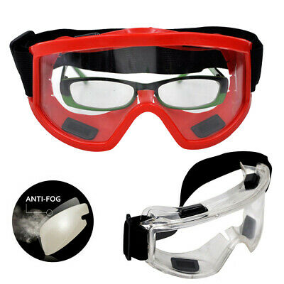 Clear Safety Goggles Glasses Anti Fog Len Work Lab Personal Protective CI