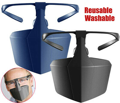 1x Face Mouth Shield Protection Glasses Wearable Anti-Saliva Dust-Proof Anti-Fog