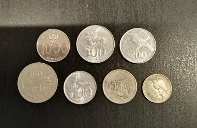 7 x Indonesia Coins (Lot #1)