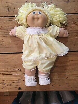 Cabbage Patch Girl Yellow Yarn Hair Vintage 1982
