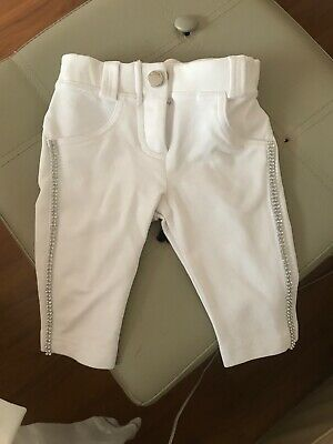 Microbe Baby Girls Bling White Tracksuit Size 6 Months