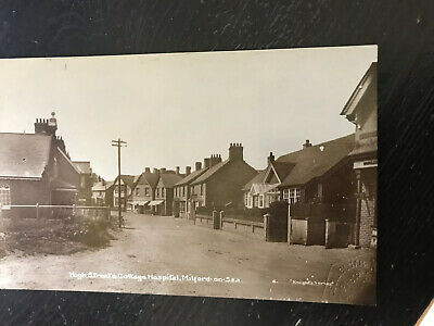 High Street The Cottage Hospital, Milford On Sea, Hampshire Real photo postcard