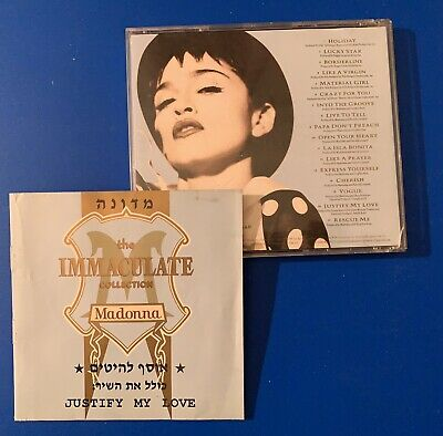 Madonna THE IMMACULATE COLLECTION Israel Rare No Madame X CD