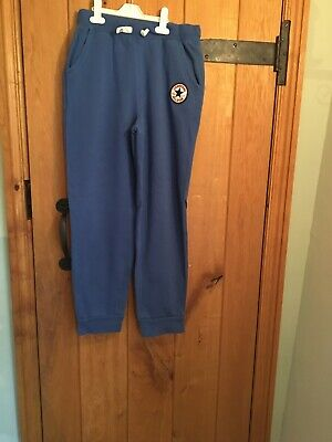 Converse All Star Youth Joggers Sweatpants Royal Blue XL Age 13-15 Yrs 158-170cm