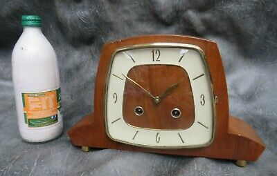 A GOOD WORKING 1950's HERMLE TING TANG CHIME MANTLE CLOCK *SERVICED*