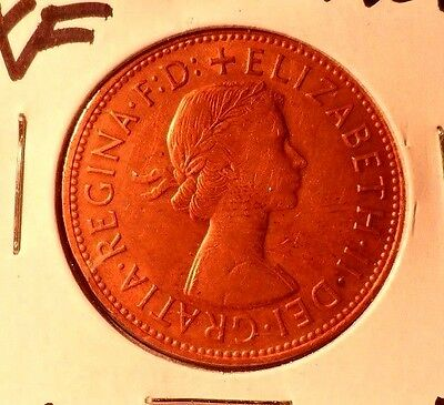 Circulated 1967 1 Penny Uk Coin (100715))