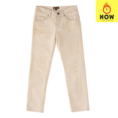 RRP €210 ROBERTO CAVALLI Jeans Size 6Y / 122 CM Stretch Distressed Dirty Look