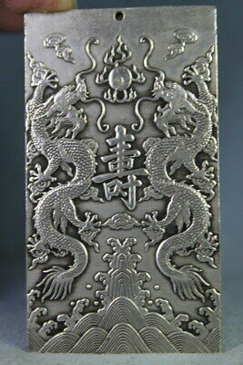 Exquisite Decor Auspicious Miao Silver Carved Chinese Zodiac Exquisite Pendant