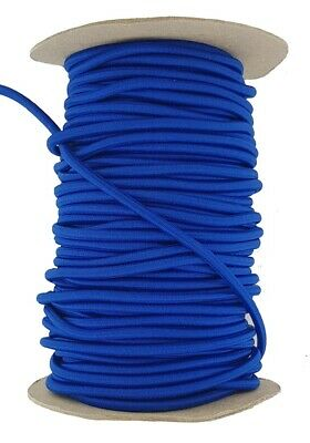 Elastic Cord 5 mm round sold in lengths of 2,3,4,5, Metres Blue