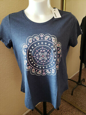 Women's NWT SONOMA Goods For Life Size XL Medallion Scoop Neck