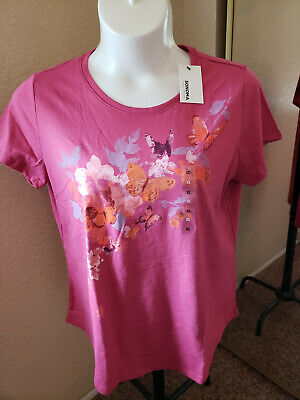 Women's NWT SONOMA Goods For Life Size XL Butterflies Scoop Neck