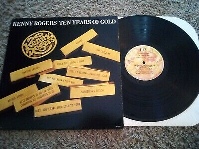 Kenny Rogers Ten Years of Gold LP VG+ plays great original press First Edition!!