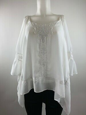 NEW Women's Jennifer Lopez Island Paradise Sheer Top Size Large SZ L