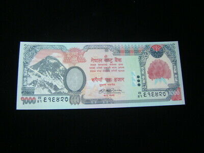 Nepal 2010 1000 Rupees Banknote Gem Uncirculated Pick#68b Sign 19