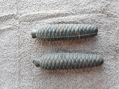 2 German Pinecone Cuckoo Clock Weights Parts or Repair 3 lbs each G10