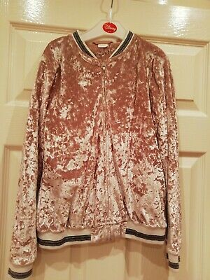 Girls Next Gold Velour Zip Up lightweight jacket Age 11Y