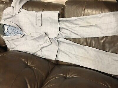 Appaman 2pc Boys Linnen Mod Spring Suit Pants NWT Stone Grey 12 like 10