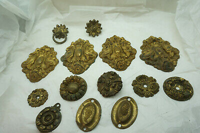Antique Curtain Tie Backs Lot Brass Architectural Salvage Holdbacks Tiebacks