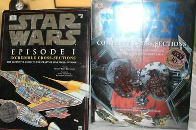 Lot of 2 Hard Cover DK Star Wars Cross Sections
