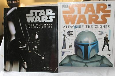 Lot of 2 Books Star Wars DK Ultimate Visual Guide +  Attack of the Clones Visual