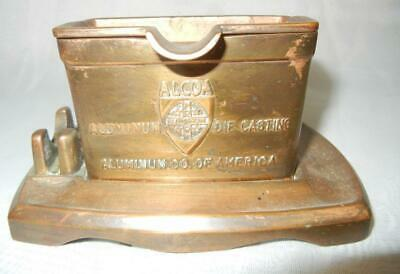 Vintage Patd. 1925  Scroll Art Co. Alcoa Aluminum Advertising Ashtray