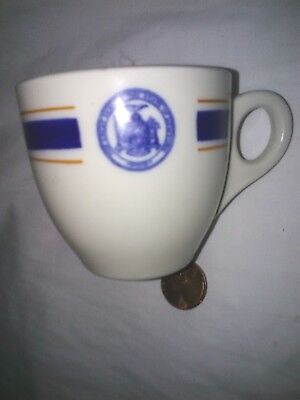 Old Ivory Opco Syracuse China Espresso Cup The Great State Of New York