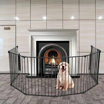Pet Dog Playpen Foldable Portable Pet Puppy Cat Exercise Barrier Fireplace Fence