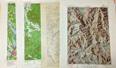 Your Choice of New Hampshire Maps 1893-1956 Editions Topographic