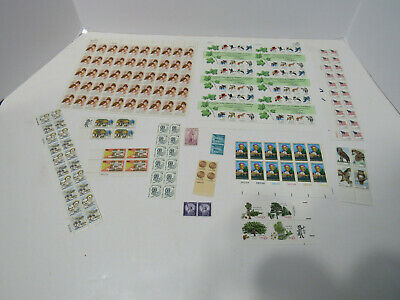 Unused Assorted Mixed Multiples & Singles of US Postage Stamps 27.49 Face Value