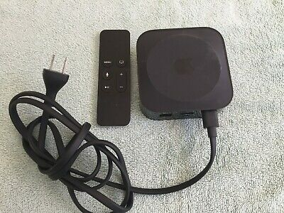 Apple Tv Model #1625 (4Th Generation) With Remote And Cord Used