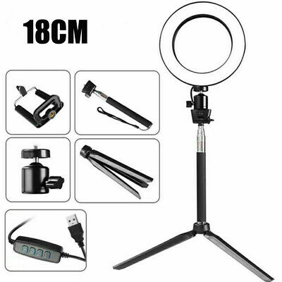 LED Ring Light Dimmable 5500K Lamp Photography Camera Photo Studio Phone Video#