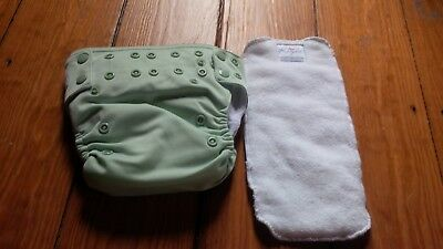 Super nice - KATYDID Pocket Cloth Diaper -  GREEN - adj. w. 2 inserts - Large