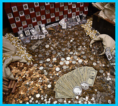 Massive Estate Sale Gold Silver Coins Mixed Lot Vintage Collectibles Arrowheads!