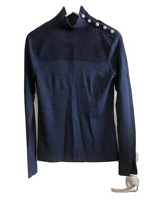 Witchery Ladies Navy Blue Jumper Size Small Seats 10 To 12