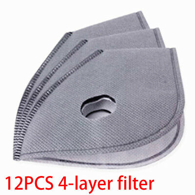 12pcs 4 Capas Pm 2.5 Anti Humo Virus-Proof Aire Purificador Activo Carbón Filtro