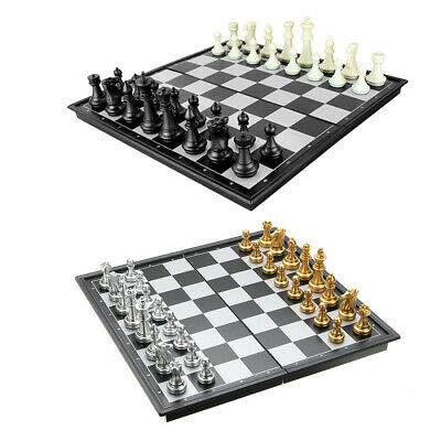 Magnetic Chess Folding Board Travel Box Set Kid Game Plastic Gift Light