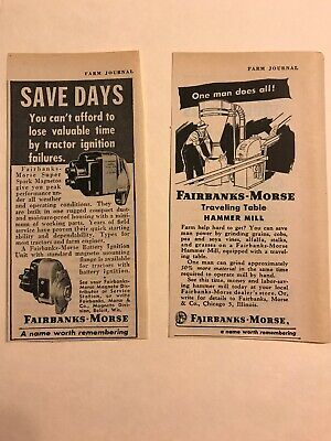 Fairbanks Morse Vintage Ads Magneto Hammer Mill Tractor Hit And Miss Engine