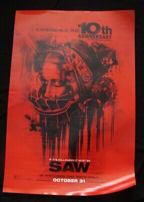 SAW 10th anniversary movie poster Original DS One sheet