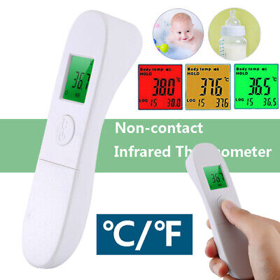 IR Infrared Digital Forehead Fever Thermometer Non-Contact Baby / Adult Body CA