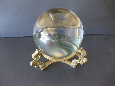 Crystal Ball With Brass Dragons Stand