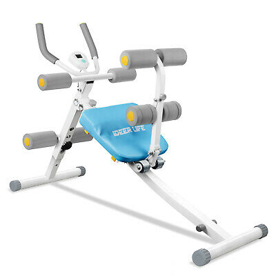 Foldable Core Ab Trainers, 2 in 1 Power Plank and Sit Up Bench,AB Rocket Chair